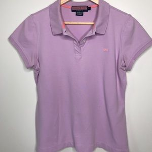 Vineyard Vines Susie Fit Pique Purple Whale Polo